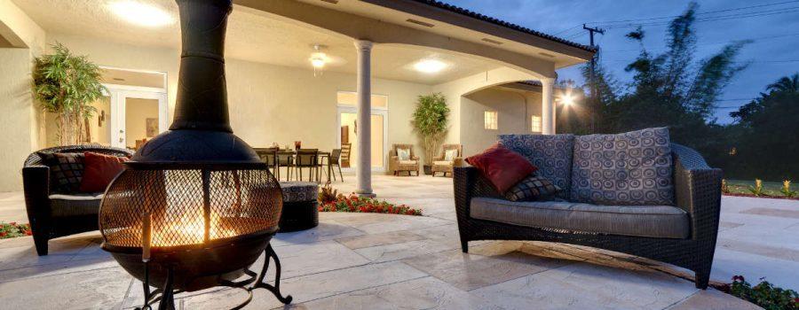 Beautiful concrete patio outdoor shot - Patio Paving Services - Houston TX - PavingRite Construction